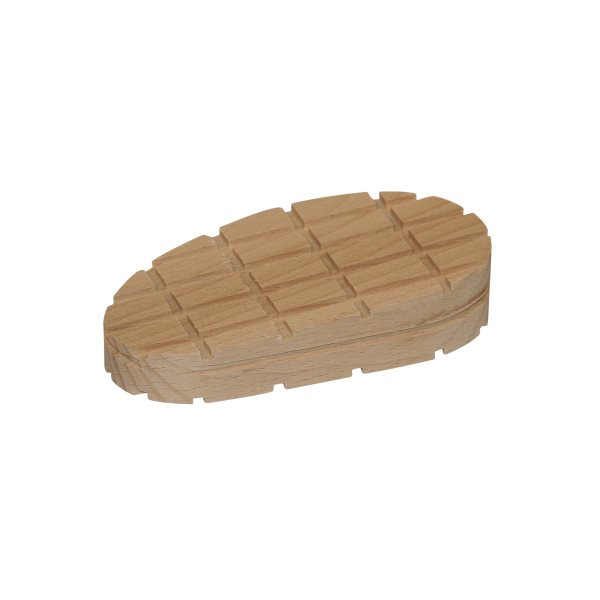 Hard wood block wedge shape cross lines