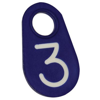 Neck tag blue #7