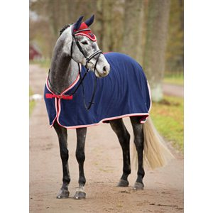 Covalliero  cooler fleece blanket blue & red  175 cm