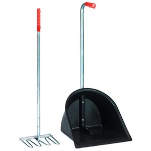 MISTBOY stable shovel complete black 75 cm