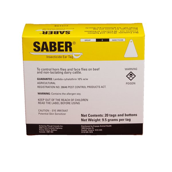 SABER Boucles d'oreille insecticides emb / 20