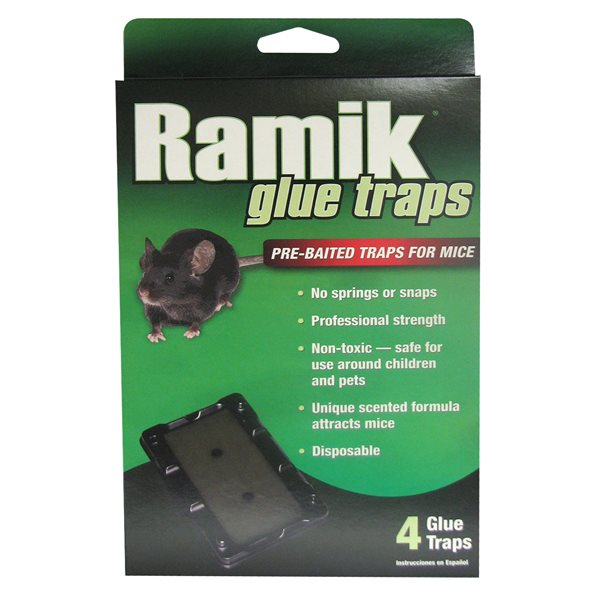 RAMIK Mouse Glue Trap pk / 4