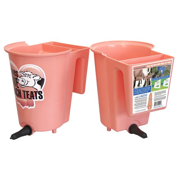 PEACH teat reversible single calf bucket 6 L