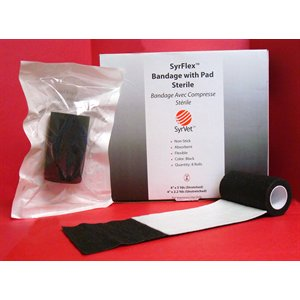 SYRFLEX cohesive bandages 4'' with sterile pad black box / 8