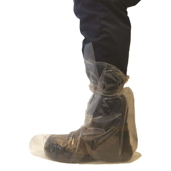IDEAL® disposable overboots with tie, 4 mil.  Box / 50