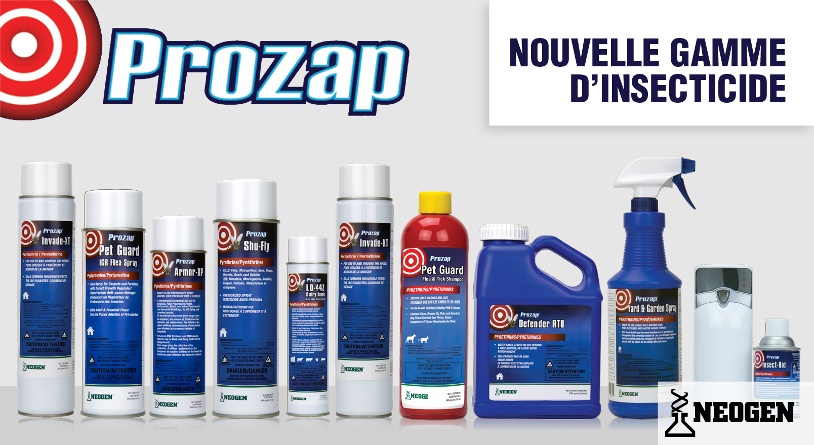 Gamme d'insecticide PROZAP